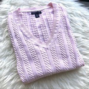 Tommy Hilfiger Sweaters - Tommy Hilfiger Light Pink V Neck Sweater